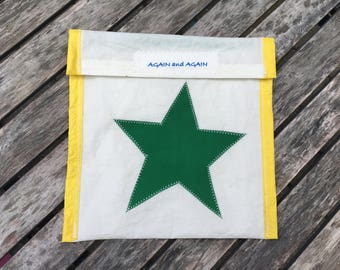 Accessories Pouch - made from recycled sails - Green Star
