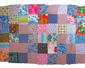"Vintage Retro Midcentury Patterned Quilting/Patchwork Fabric Panel 41"" x 28"""