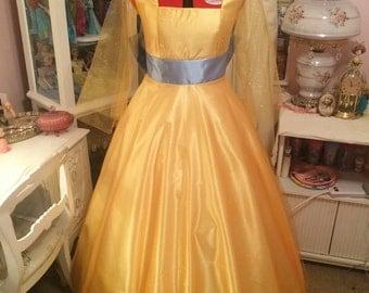 Anastasia once upon a December yellow dress version 3 handmade custom size. *In progress*