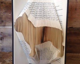 French Bulldog Folded Book Art