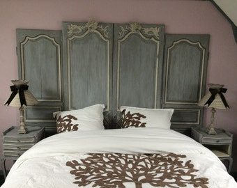 Imposing head of bed patina antique effect