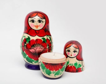 Wild Apple Soy Candle in Russian Nesting Doll