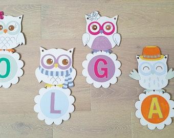 decorative owl letters