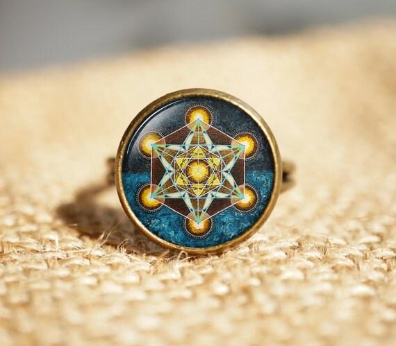 Metatron 39 s cube rings sacred geometry jewelry geometric for Metatron s cube jewelry