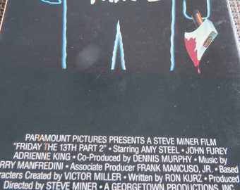 Friday The 13Th Part 2 VHS Horror special order