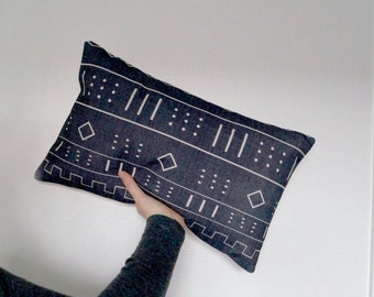 african mudcloth print decorative pillow cover