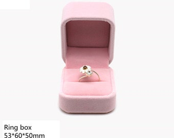 Pink Velvet Jewelry Box/Gift Boxes/ Ring Package Boxes/Jewelry Accessories /4 Sizes