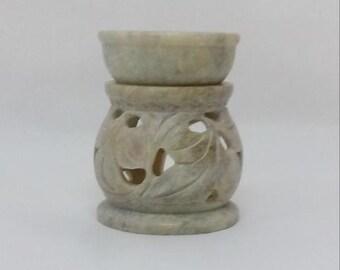 aroma diffuser,tea light,t light,soap stone,aromatherapy,aroma,diffuser,gift,table decor,oil warmer