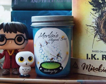 Merlin's Magical Brew Soy Wax Candle - 8 oz