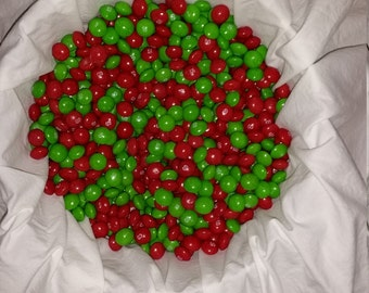 Free Shipping! One pound of Christmas Skittles, a mix of red strawberry and green apple