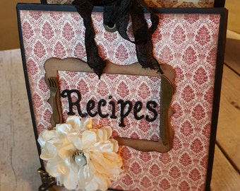 Vintage Chipboard Recipe Album