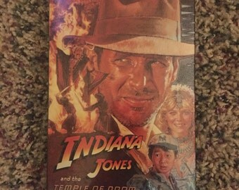 1984 Indiana Jones and the Temple of Doom VHS Tape Factory Sealed