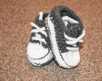 Converse style baby booties 0-3m various colours