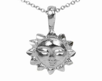 925 Sterling Silver Sun Necklace
