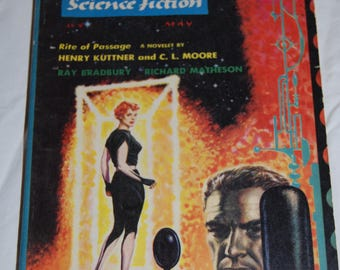 The Magazine of Fantasy and Science Fiction - Pulp Fiction Paperback - 1956