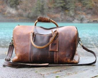 Kodiak Buffalo Leather Duffel