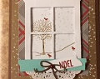 Window Snow Card
