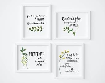 Botanical Birth Prints