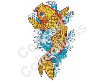 Koi Fish Machine Embroidery Design