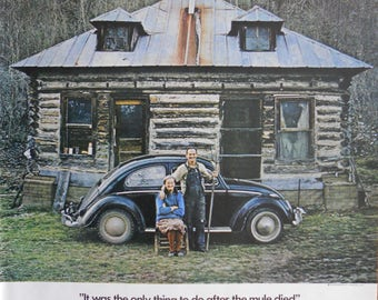 1972 Volkswagen Beetle ad.  1972 VW Bug ad. Volkswagen Bug.  Full color ad.  Life Magazine.  October 8, 1971.