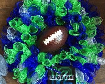 Seahawks Deco Mesh Wreath