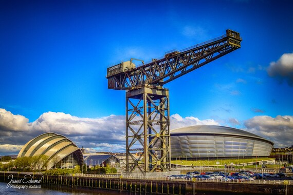 Glasgow Digital Download, river clyde, glasgow, finnieston crane, river, water photography, scotland, scottish photography, glasgow landmark