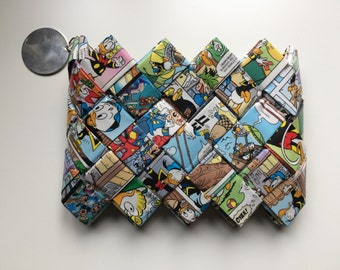 Recycled Mickey Mouse comic book wallet, disney wallet,womens wallet, Eco Friendly wallet,candy wrapper wallet