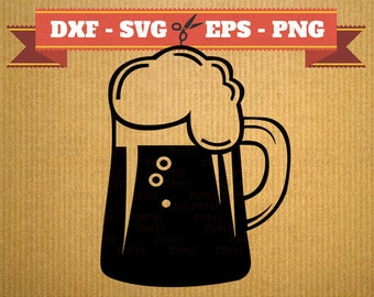BEER MUGS SVG File, Png, Dfx, Eps, Beer silhouette, Mugs Svg, Silhoutte Studio, Cricut, Cameo