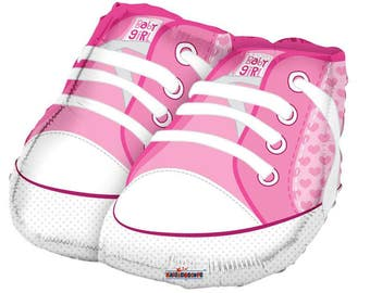 Pink Baby Shoes Foil Balloon / Baby Girl Shower Party / Baby Girl Shoes Party Decor / Baby Shower Party Decor / Baby Welcome Party