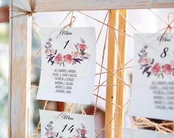 Sweet Emotion Wedding Seating Chart Template. Wedding Invitation Set, Instant Download, DIY Printable File, Editable Text