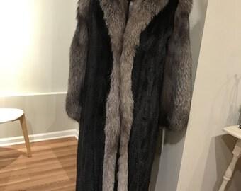 Vintage Full Length Genuine Mink Fur Coat