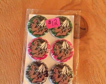 Button Magnets - UND Fighting Sioux