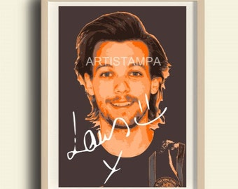Louis Tomlinson Printable Art with signature