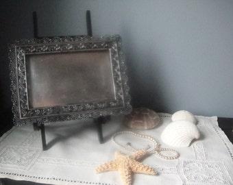 Antique Rockford Quadruple silver plate frame
