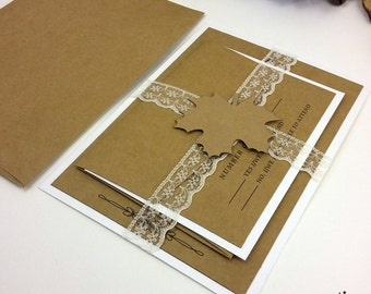 Kraft Wedding Invitations, Rustic Wedding Invitations, Country Wedding  Invitations, Invitation Cards, Craft