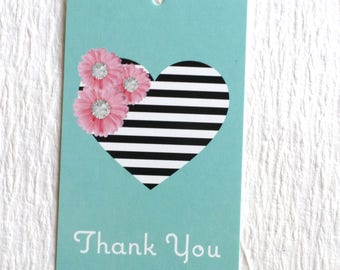 100 FASHION TAGS CLOTHING Tags Accessories Tags Price Tags  Cute Heart With Pink Flowers Retail Tags with  Plastic Loops