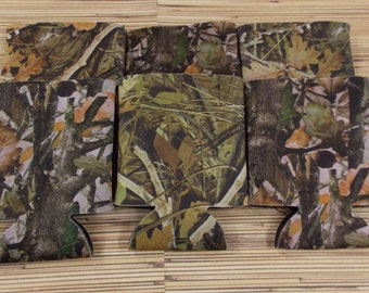 Camo, Blank can coolies, free shipping