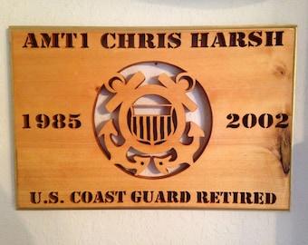 U.S. Coast Guard years of service Plaque