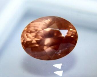 Natural Orangish Brown Zircon 10 mm 4.50 Carat