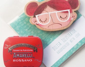 DILISA fridge magnet, handpainted with love for a cute gift