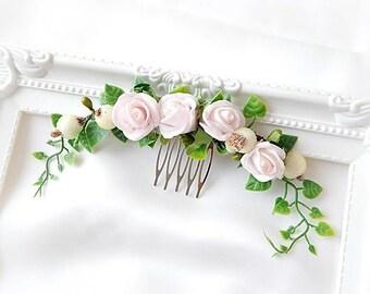 Bridal Headpiece, Comb , Wedding Hair accessory, Bridal Adornment, Flowers comb, Headpiece  Hair adornment
