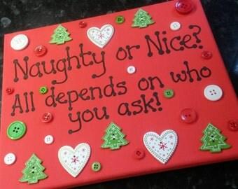 Christmas Canvas - Naughty or Nice?