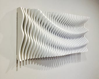 Wood Wall Art, Modern Art, Parametric Wave, 3D Art, Wall Sculpture, Wall Hanging, Wood Art, Wall Decor, Abstract Art, Parametric Artwork,