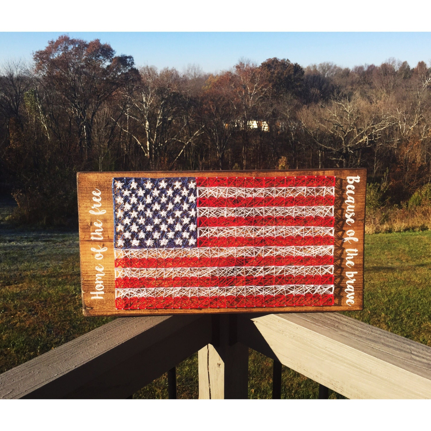 Wood American Flag Wall Art american flag string art american flag american flag wall