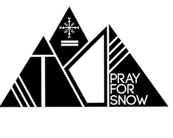 Pray For Snow Mountain Vinyl Sticker