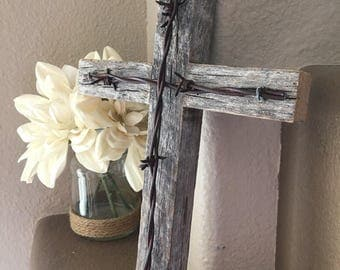 Rustic Wooden Cross Decorative Cross Religious Cross Reclaimed Wood Home Decor Wall Cross