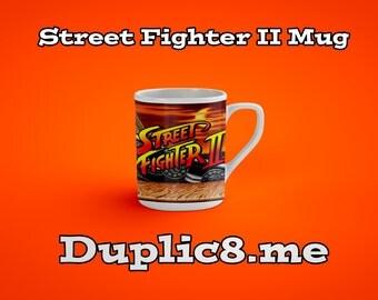 Custom Street Fighter 2 character mug