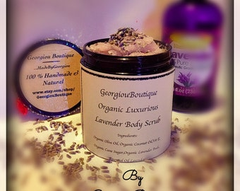 Free shipping Organic Luxurious Body scrub 5oz with spoon /Gift set/Christmas /Thanksgiving /Birthday/mothers day/