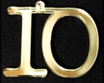 12.5cm Hanging Number SETS/GOLD Mirror/Wedding,Party,or Club Table No's  by VividLaser-A