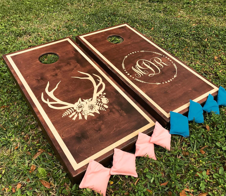 Fun Outdoor Wedding Ideas: Hand-Made Corn Hole Boards 2 VINTAGE Custom Country